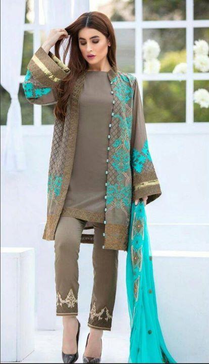 salitex cotton ****** Salitex cotton embroidery suit chiffon