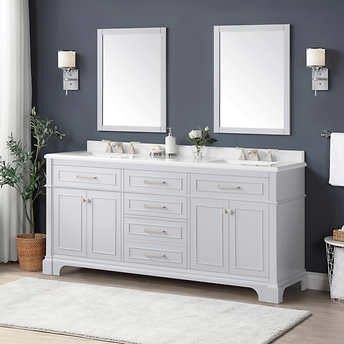 Costco Vanity In 2020 Double Vanity Vanity Ceramic Sink