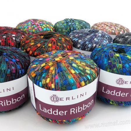 Berlini Ladder Ribbon Glitter Yarn At Numei Yarn Numei Com