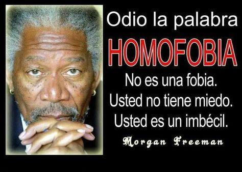 Odio la homofobia.........