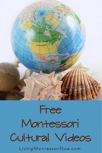 Free Montessori Cultural Videos (post includes Montessori Monday link-up collection)