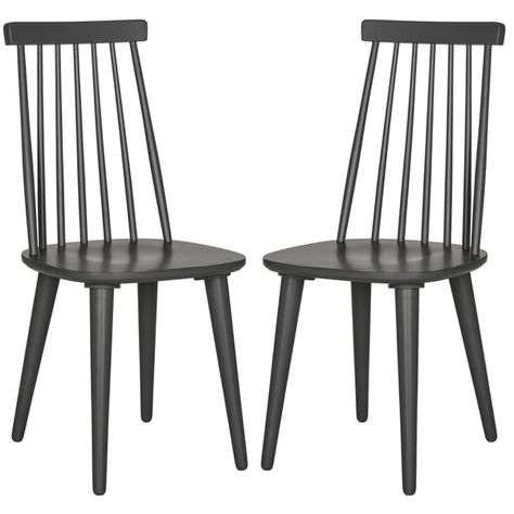 Safavieh Dining Country Burris Grey Dining Chairs Set Of 2