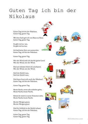 Guten Tag Ich Bin Der Nikolaus Nikolaus Lieder Gedicht Weihnachten Nikolausgedichte