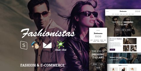 Fashionistas - Responsive Email Template with MailChimp Editor, StampReady & Online Builder