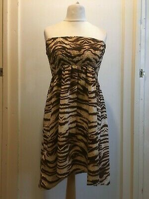 Primark Ocean Club Bandeau Beach Dress Size 10 12 Uk New Animal Print Fashion Clothing Shoes Accessories Women Womensclothing Ebay Lin In 2020 With Images Bandeau Beach Dress