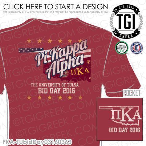 TGI Greek - Pi Kappa Alpha - Rush - Recruitment - Greek Apparel - Fraternity T-shirts #pikappaalpha #fraternityrush #fraternityrecruitment #tgigreekapparel #greektshirts
