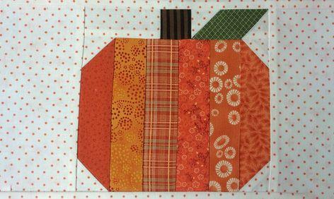 FREE Pumpkin Quilt Block Tutorial | Craftsy