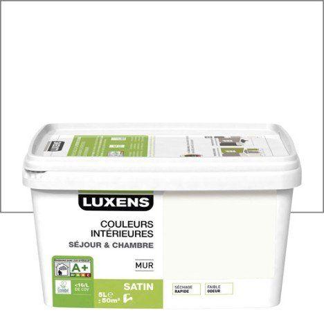 Peinture Blanc Calcaire 3 Luxens Couleurs Intérieures 5 L