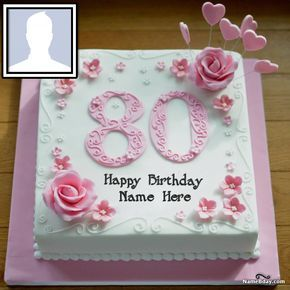 Surprising New Ideas 80Th Birthday Cake With Name 80 Birthday Cake Funny Birthday Cards Online Hendilapandamsfinfo