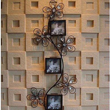 Qjx Metal Wall Art Iron Wall Decor Romantic Fancy Photo Frame