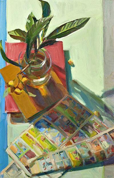 Boyd Gavin, Loquats, oil on canvas, Caldwell Snyder Gallery Pretty Art, Cute Art, Painting Inspiration, Art Inspo, Ouvrages D'art, Illustrations, Illustration Art, Plakat Design, Still Life Art