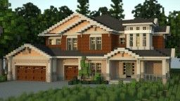 Traditional House Northwest Style Minecraft Map Project Minecraft House Tutorials Modern Minecraft Houses Minecraft Projects