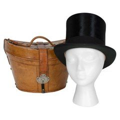 Harrod S Beaver Fur Top Hat And Travel Case With Transport Stickers 1910 Fur Top Harrods Top Hat