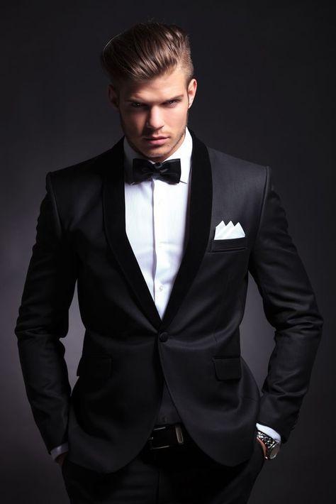 Fait sur mesure pour les hommes costume de mariage smoking marié. 2014 noir pour marié. costumes, deux pièces costumes en laine
