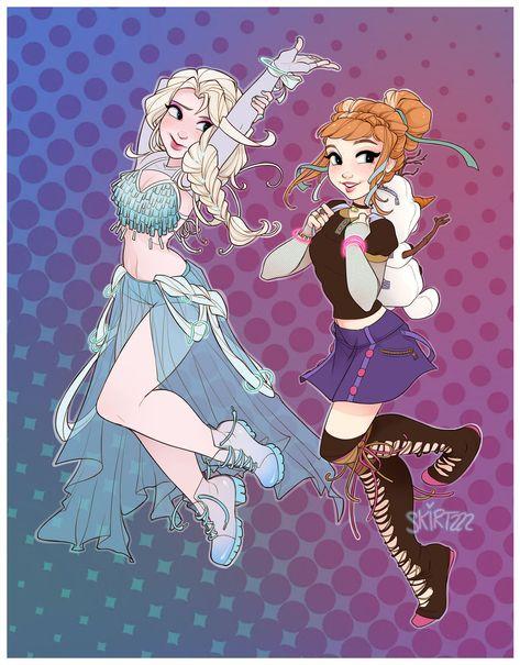 Raver Elsa and Anna by Skirtzzz on DeviantArt