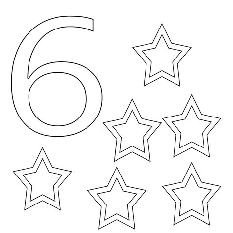 Number 6 Coloring Pages For Toddlers Preschoolers Printable