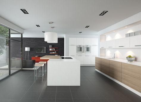 White Oak Kitchen Kitchen Pronorm German Kitchens Proline Kitchen - haecker lack matt schwarz