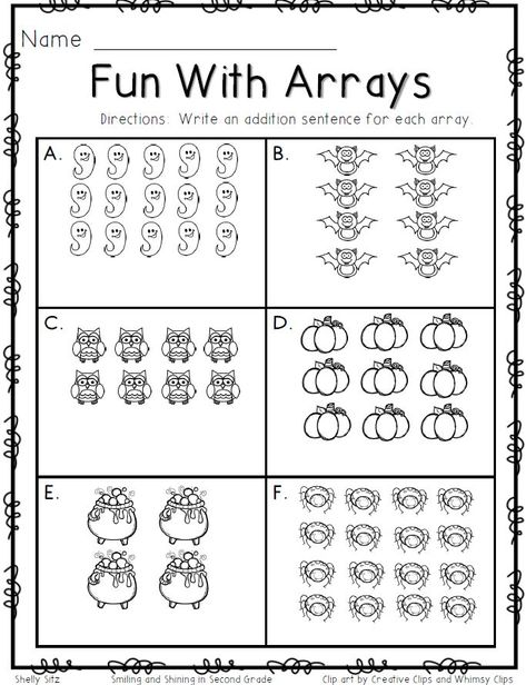 Our 5 favorite 2nd grade math worksheets | Repeated addition, Math ...
