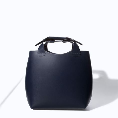 5c5917061c9 Perfect for traveling :: LEATHER SHOPPER WITH LAMINATED INTERIOR from Zara
