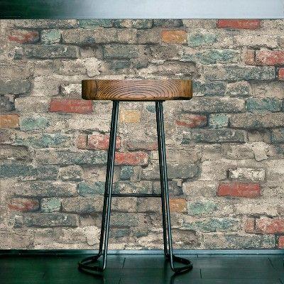Roommates Faux Brick Peel Stick Wallpaper Wall Decal Faux Brick Walls Faux Brick Peel And Stick Wallpaper