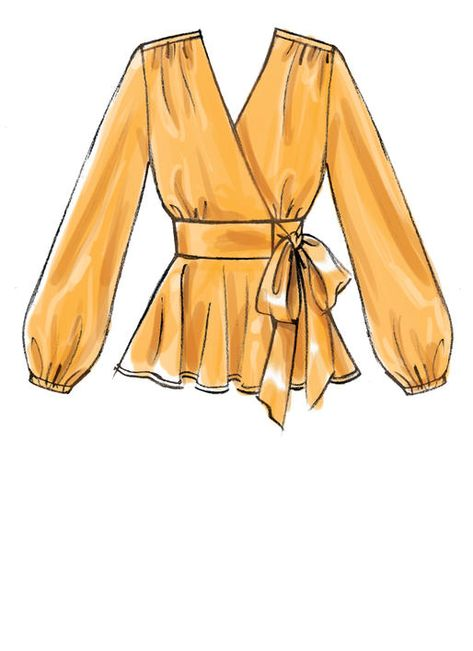 M7892 | Accidents Tops et des Robes de Couture Motif | McCall Modèles