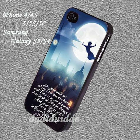 Peterpan Never Land Case for iphone 4/4S/5/5S/5C, iPod touch 4/5, Samsung Galaxy S3/S4