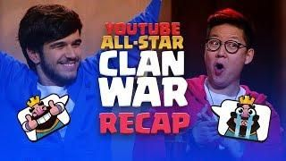 Clash Royale: YouTube All-Star 5v5 Clan War RECAP! | Clash