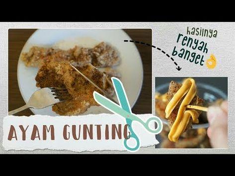 Resep Mudah Membuat Ayam Gunting Rempah Crispy Youtube Ayam Rempah Makanan Sehari Hari