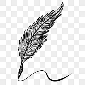 Cartoon Hand Drawn Quill Pen Handwriting Illustration Feather Clipart Pen Feather Pen Png And Vector With Transparent Background For Free Download White Feather Pen Pen Icon Feather Quill Pen