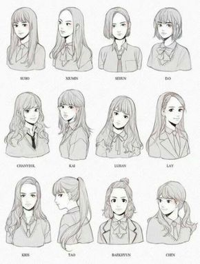 Pin On Hair Sketch