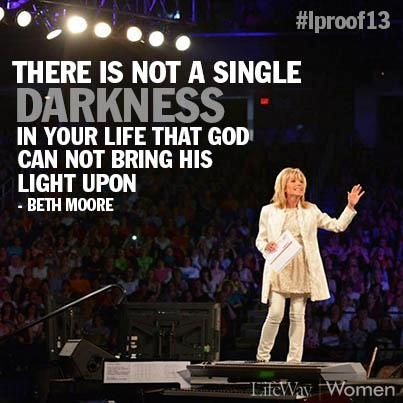 Go to a Living Proof Live conference with Beth Moore - Check!! #bucketlist