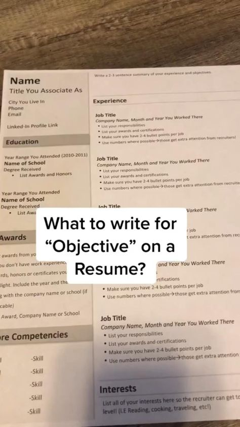 How to Write the Objective on a Resume