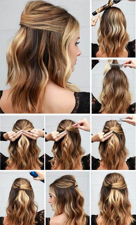 Peinados De Fiestas Rapidos Sencillos Elegantes Tendencia Peinados Pelo Mediano Peinados Elegantes Faciles Peinados Elegantes Cabello Corto