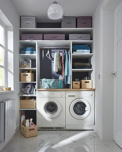 Bespoke Storage Installed From Floor To Ceiling Frame Washing