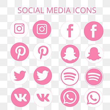 Iconos De Redes Sociales Redes Sociales Rosado Iconos Png Y Vector Para Descargar Gratis Pngtree In 2021 Social Media Icons Media Icon Social Media Icons Free