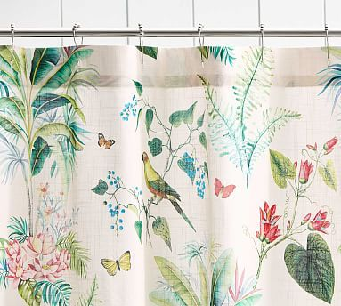 Lia Palm Shower Curtain In 2020 Cute Shower Curtains Flower
