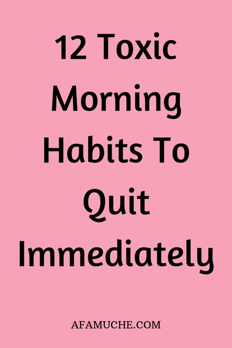 12 Toxic morning habits to quit immediately - Rituale - Wellness