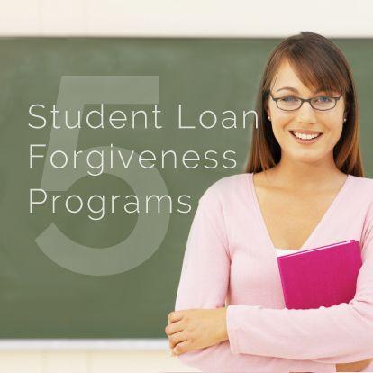 5 #student loan forgiveness programs for #nurses, #teachers, #military, and more... http://christianpf.com/student-loan-forgiveness/