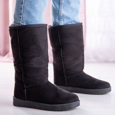 Czarne Sniegowce Na Platformie Issy Obuwie Shoes Boots Ugg Boots