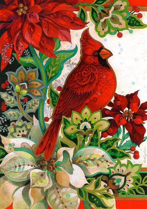 The winter roost by David Galchutt  via Etsy. Oh, the colors!