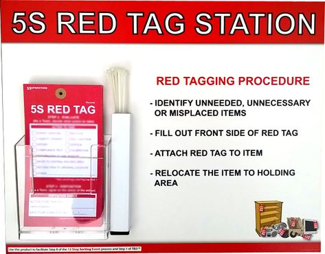 5s Red Tag Station Business Plan Template Visual Management