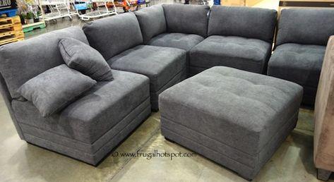 Lazy Boy Sofa  Piece Modular Fabric Sectional Costco FrugalHotspot Furniture Pinterest Fabric sectional Costco and Fabrics
