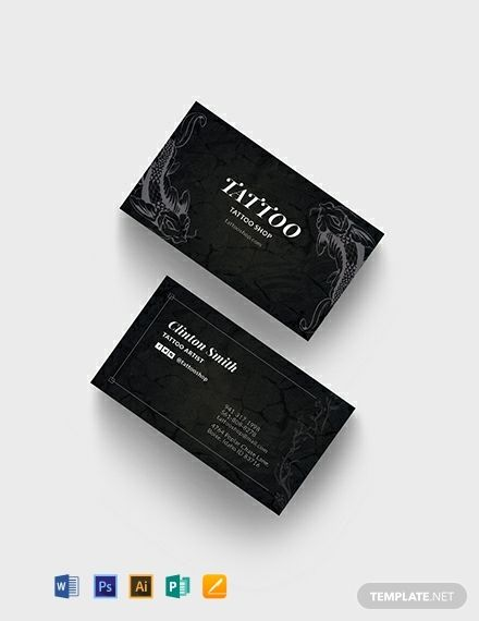 Tattoo Artist Business Card Template Word Doc Psd Apple Mac Pages Illustrator Publisher Artist Business Cards Tattoo Artist Business Cards Business Card Template Design