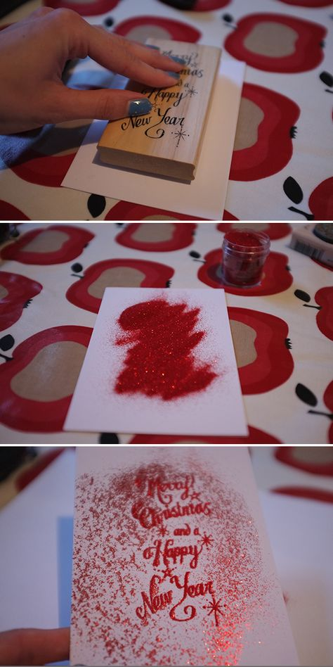 OOOOO WANT TO DO THESE WITH MY LOVELY LITTLE FAMILY!!! ALONG WITH OUR STOCKINGS =) diy christmas cards | DIY Christmas cards : Embossed christmas cards : Embossing card