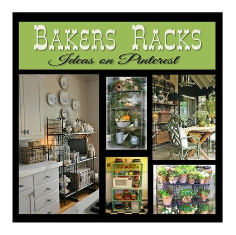 It's no secret I love bakers racks!  This board has some of my favorite inspiration posts about them.
