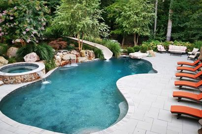 50 desain gambar kolam renang mini unik untuk rumah mewah