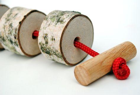 Homemade threading beads