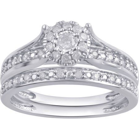 Forever Bride 1 3 Carat T W Diamond Composite 10kt White Gold