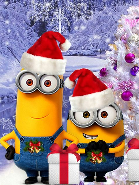 Find images and videos about we heart it, happy new year and fondos iphone on We Heart It - the app to get lost in what you love. Wallpaper Natal, Holiday Wallpaper, Disney Wallpaper, Minion Wallpaper, Minion Christmas, Christmas Art, Funny Minion Pictures, Funny Images, Funny Photos