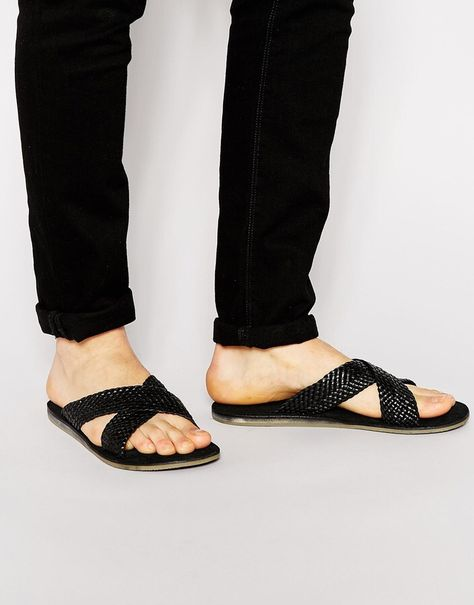 Buy Men Shoes / Dune Crossover Leather Sandals